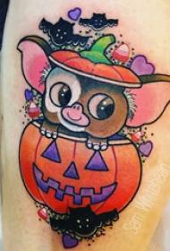 纹身卡通 女生小腿上卡通纹身图片
