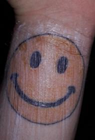 表情符号纹身  女生手腕上彩绘的表情符号纹身图片