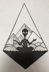 外星人纹身 奥秘的菱形和外星人纹身手稿