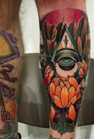 眼睛纹身 多款彩绘纹身素描眼睛纹身图案