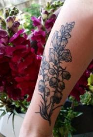 植物纹身  女生手臂上唯美的植物纹身图片