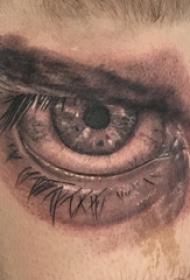 眼睛纹身  男生手臂上素描的眼睛纹身图片