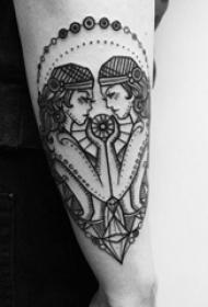 星座纹身图案 多款黑灰纹身点刺技巧星座纹身图案