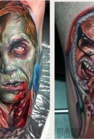恐怖纹身 多款简约线条纹身素描恐怖纹身图案