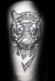 紋身老虎  兇猛個性的老虎紋身圖案
