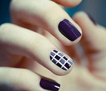 唯美紫色指尖美甲
