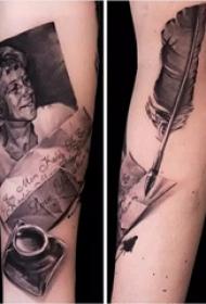 余文乐的纹身  明星手臂上人物和信纹身图片