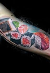 食物纹身  令人食欲大增的寿司纹身图案