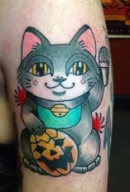 小猫咪纹身  多款彩绘心爱小猫咪纹身图案