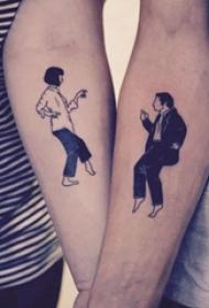 情侣纹身   格外充满爱意的情侣纹