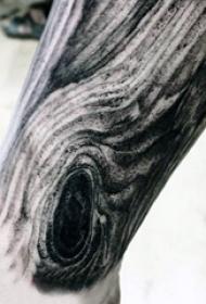 纹身树木的图像   黑灰暗沉的木刻纹身图案