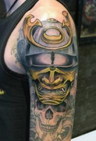 武士紋身  多款個性的日本武士紋身圖案