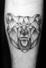 熊紋身   多款時尚的幾何熊紋身圖案