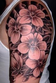 纹身图案花朵  唯美靓丽的花朵纹身图案