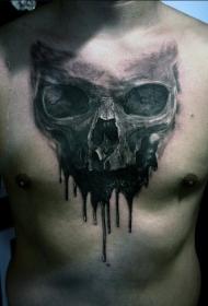 骷髅纹身  令人恐惧的骷髅纹身图案