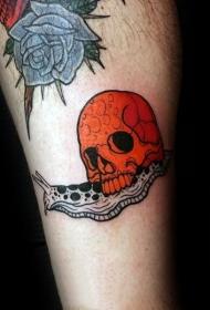 蜗牛纹身图案   趣味十足的蜗牛纹身图案