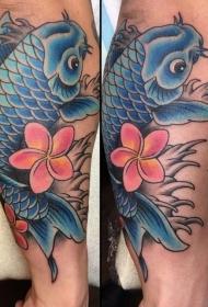 纹身锦鲤图案   灵动的锦鲤纹身图