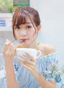 邂逅美女陈潇下午茶清纯写真