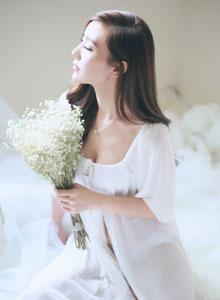唯美女孩婚紗拍攝圖片 小秀性感