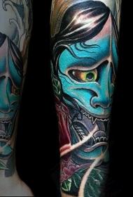 般若面具纹身  时尚而又个性的般若面具纹身图案