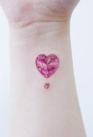 水晶纹身    唯美而又绚丽的水晶纹身图案