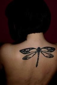 蜻蜓紋身圖案   輕巧清新的蜻蜓紋身圖案