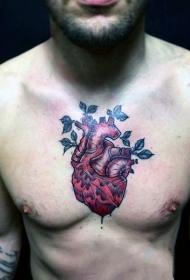心臟紋身圖案   真實而又血腥的心臟紋身圖案