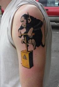 纹身 涂鸦    随性而又别具特色的涂鸦纹身图案