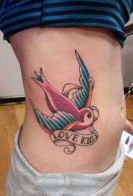 紋身鳥   自由翱翔的燕子紋身圖案