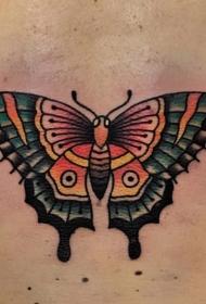 胡蝶纹身图片   美感实足的胡蝶纹身图案