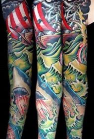 鯊魚紋身圖   多款寫實的鯊魚紋身圖案