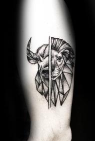 几何 纹身图案   设计感十足的折纸纹身图案