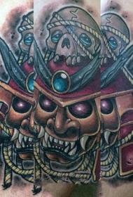 日本武士紋身  多款彩繪的日本武士紋身圖案