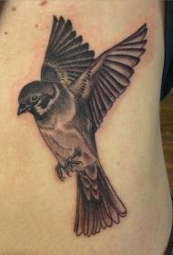 纹身鸟  小巧可爱的麻雀燕子等小鸟纹身图案