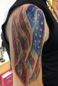 美国国旗纹身   多款个性十足的美国国旗纹身图案