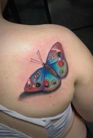 纹身胡蝶女   恰恰飞舞的胡蝶纹身图案