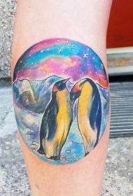 企鹅纹身图   呆萌可爱的企鹅纹身图案