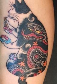 小猫咪纹身  设计感十足的小猫咪纹身图案