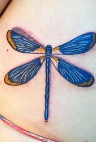 蜻蜓紋身圖案  唯美而又輕盈的蜻蜓紋身圖案