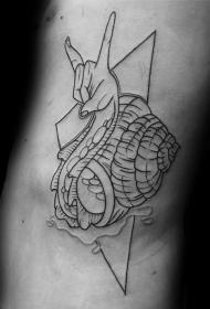 蜗牛纹身图案   行动缓慢的蜗牛纹身图案