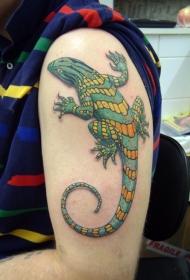蜥蜴纹身图案  机灵活泼的蜥蜴纹身图案