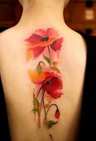 罂粟花纹身图片  妖艳致命的罂粟花纹身图案