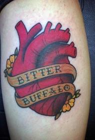 心脏纹身图案   多款彩绘的心脏纹身图案