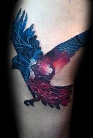 创意纹身图片  双重曝光的动物纹身图案