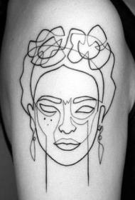 纹身简单线条图   极简设计的线条纹身图案