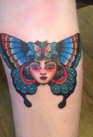 蝴蝶紋身圖片    翩翩飛舞的蝴蝶紋身圖案