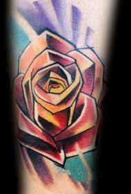玫瑰花纹身图案  光彩耀人的玫瑰花纹身图案