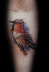 纹身鸟   维妙维肖的蜂鸟纹身图案