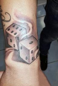 骰子纹身图案    多款写实的骰子纹身图案