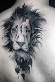 狮子头纹身图片   威猛慑人的狮子纹身图案